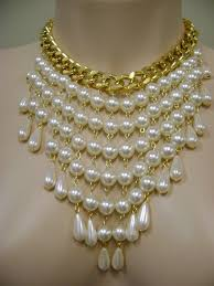 pearl necklace jewellery making images Maxi colar coisas da mel pinterest jewelry jewelry crafts jpg