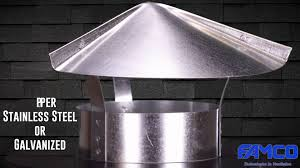 cone top cap hvac chimney cap by famco manufacturing youtube
