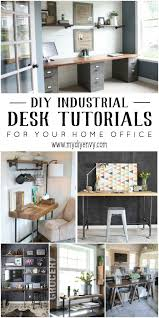 Diy Home Desk 10 Diy Industrial Desk Tutorials For Your Home Office My Diy Envy