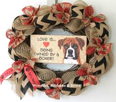 imprinted ribbon personalized pet wreath personalized boxer wreath custom dog