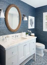 nautical bathroom mirrors nod to nautical bathroom nautical living with navy blue white natural textures navy