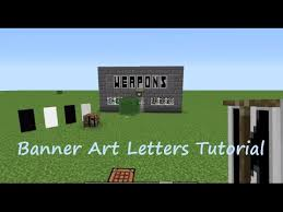 minecraft banner how to make all the letters in the alphabet