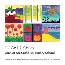 enterprising christmas art card project for schools group design