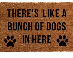 Wipe Your Paws Dog Doormat Dog Welcome Mat Etsy