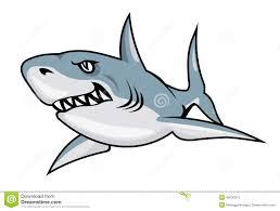 cartoon shark stock vector image 46030573