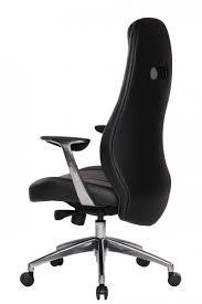 Schreibtischstuhl Amstyle Bürostuhl Bari Schwarz Echt Leder Design