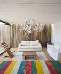 rustic modern living room family home in algarrobo chile