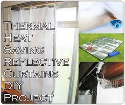 Heat Repellent Curtains Thermal Heat Saving Reflective Curtains Diy Project The