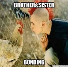 Brother Sister Memes - brother sister bonding funny chicken meme picture