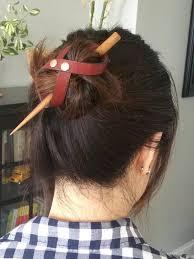bun holder leather hair bun holder bedao boutique