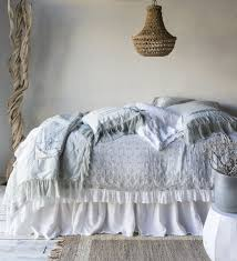 antonia embroidery coverlet with self flange bella notte