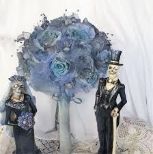 tim burton u0027s corpse bride wedding flower bouquet gray blue