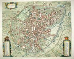 Brussels Map Antiquemaps Fair Map View Antique Town View Of Brussels
