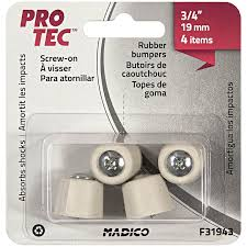 madico 22mm rubber white bumper protec floor protection 4 pack