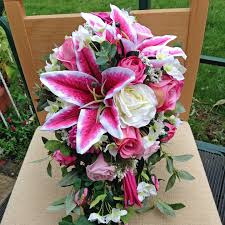 cascading bouquet pink cascading bouquet rosie silk flowers