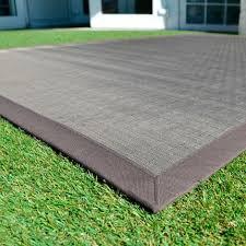 tapis extérieur pvc tressé taupe 120 x 180 cm c