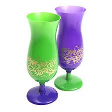 bulk mardi gras mardi gras hurricane plastic cup 1 dozen bulk