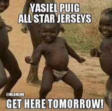 Hilarious Memes 2013 - mlb memes on twitter good news from the yasiel puig finalvote
