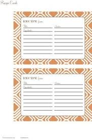 426 best recipe cards templates images on recipe
