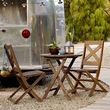 Kitchen Bistro Table And 2 Chairs Jardine Folding Bistro Dining Set U2013 Table 2 Chairs West Elm