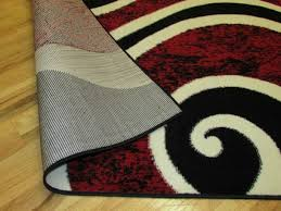 Black And Red Area Rugs by Arlington Collection Red And Black Contemporary Waves Abstract