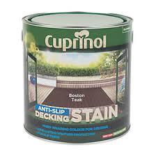 cuprinol anti slip decking stain boston teak 2 5ltr decking