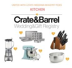 gift registry ideas wedding wedding registry ideas from crate barrel united with