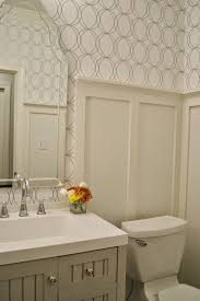 Wallpaper Designs For Bathrooms by Allen Roth White Silver Circles Wallpaper Bath Martha Stewart Seal