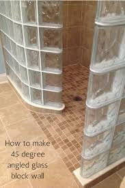 Glass Block Bathroom Ideas by How To Make A 45 Degree Angle With A Glass Block Wall Glass