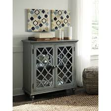 accent cabinet with glass doors furniture lattice glass door accent cabinet in antique gray finish