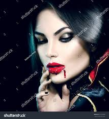 vampire halloween woman portrait beauty stock photo 331353968