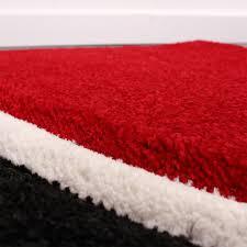 teppich mit sternen designer teppich mit konturenschnitt karo muster rot schwarz wohn