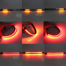 stop sign with led lights motorcycles car tail brake light led bar stripcar smd motorcycle