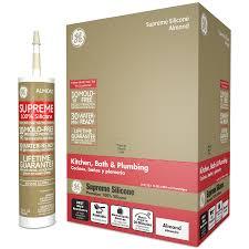 shop ge silicone ii supreme 121 2 oz almond silicone kitchen and