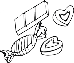 free coloring pages of box candy chocolate chip cookie coloring