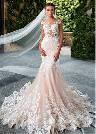 lace mermaid wedding dress buy discount glamorous tulle neckline see through bodice