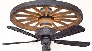 wagon wheel ceiling fan light spacious copper canyon western trails ceiling fan rustic lighting
