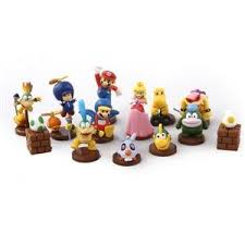 mario cake toppers mario 13 peice cake topper set wii nintendo ds