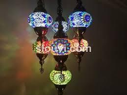 Turkish Chandelier 7 Globe Sultan Mosaic Chandelier Turkish L Turkish The