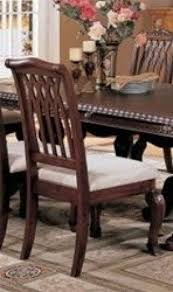 Traditional Wooden Kitchen Chairs by Cherry Finish Dining Room Set Foter