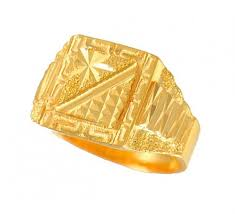 gold ring images for men men s gold ring ajri50714 22k gold men s ring with frosty