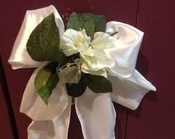 pew decorations for weddings pew decorations etsy