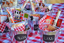 party favors farm theme birthday party favors chalkboard pail filled with