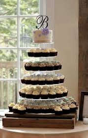 wedding cupcake tower rustic chic cupcake tower wedding at riverdale manor the couture