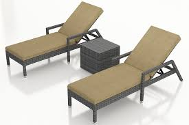 Outdoor Reclining Chaise Lounge Harmonia Living District 3 Piece Wicker Reclining Chaise Lounge