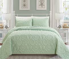 seashell coral reversible bedspread quilt set