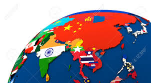 Political Map Of Asia Political Map Of Asia With Each Country Represented By Its
