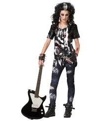 zombie halloween costume child zombie rock star teen halloween costume girls costumes