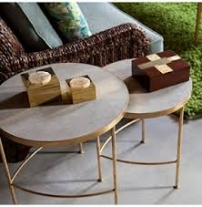Nesting Coffee Tables Gold Nesting Tables Foter