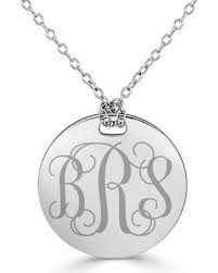 monogram disc necklace check out these bargains on 22 0mm monogram disc necklace in